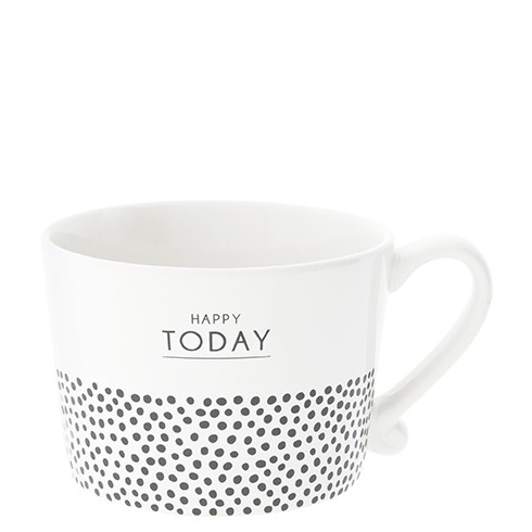 Bastion Collections Cup White / Happy Today & Dots in Black