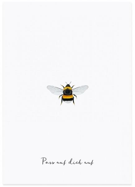 Eulenschnitt Postkarte Biene