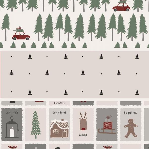 Ib Laursen Geschenkpapier Christmas, 3x5 mtr. Rolle