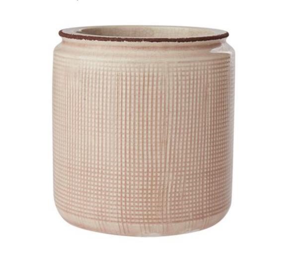 Blumentopf Keramik Zart-Rosé, klein