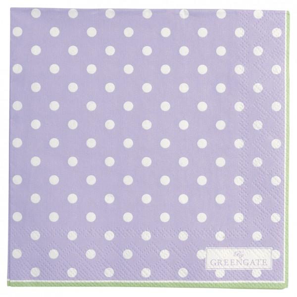 GreenGate Kleine Papierserviette Spot lavendar