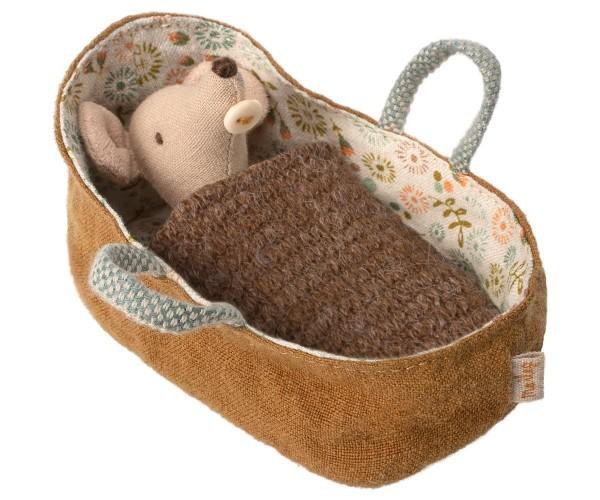 Maileg Tragetasche mit Baby Maus