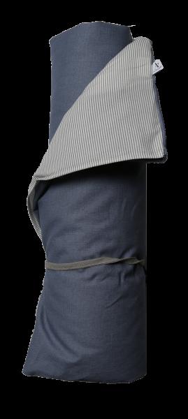 Au Maison Picknickdecke Linen/Stipe, Denim Blue/Grey