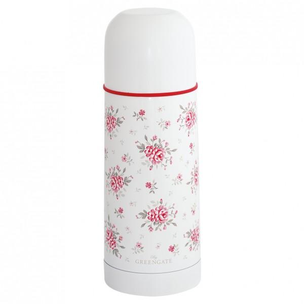GreenGate Thermosflasche Flora White, 300 ml