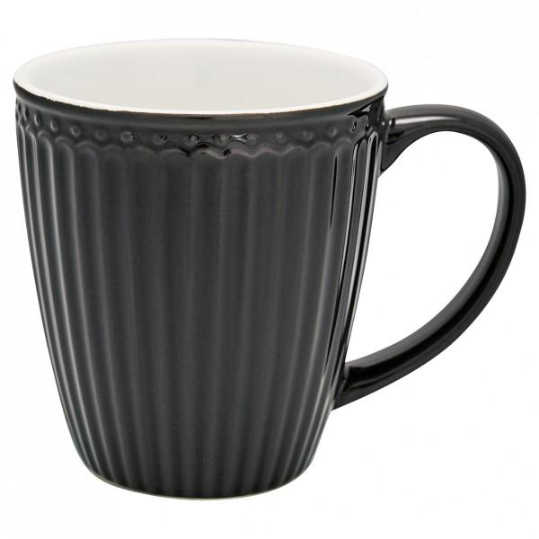 GreenGate Henkeltasse / Mug, Alice Dark Grey