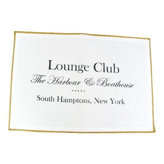 """Tischset """"Lounge Club"""", weiß"""
