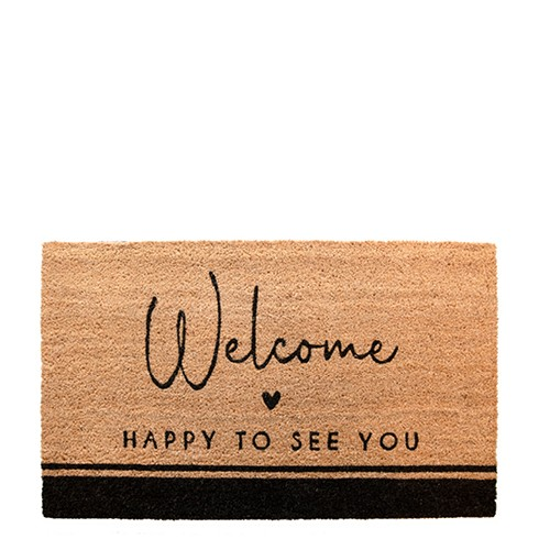 Fussmatte Welcome - Happy to see you