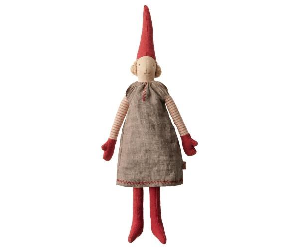 """Maileg, Wichtel Mädchen """"Mini Pixy 2019"""", graues Kleid"""