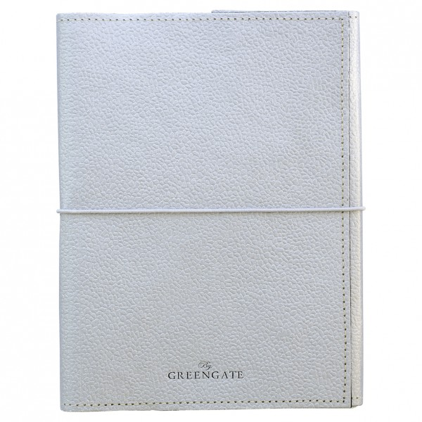 Greengate Notebook Silver w/elastic