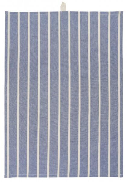 Ib Laursen Geschirrtuch Blau mit beigen Streifen