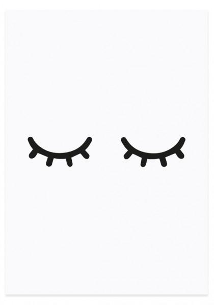 Eulenschnitt Postkarte Müde Augen