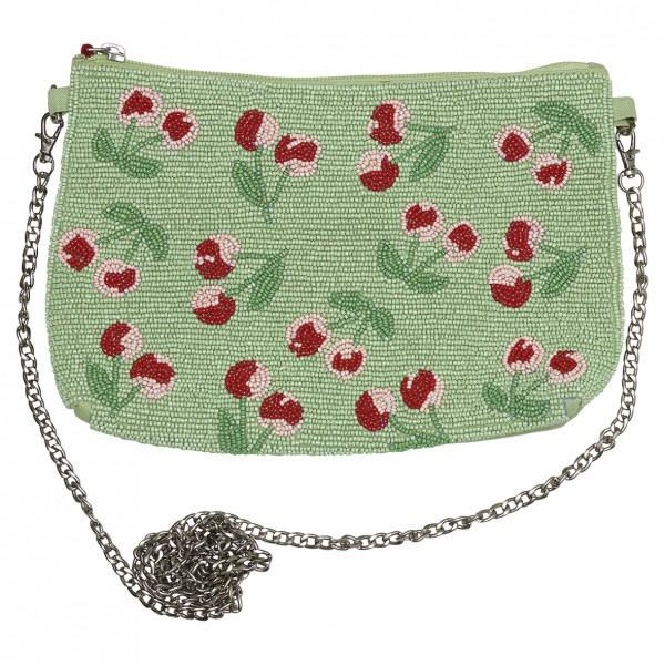 GreenGate Handtasche Cherry Berry Pale Green