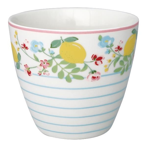Greengate Latte Cup Limona white