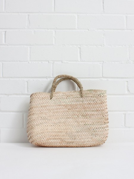 Mini Korbtasche, Palmblatt - handgewebt