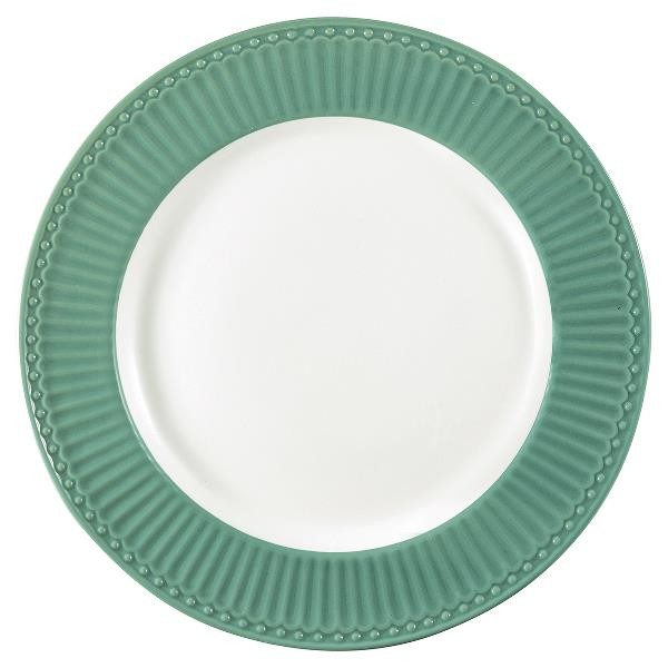 GreenGate Essteller / Dinnerplate, Alice Dusty Green