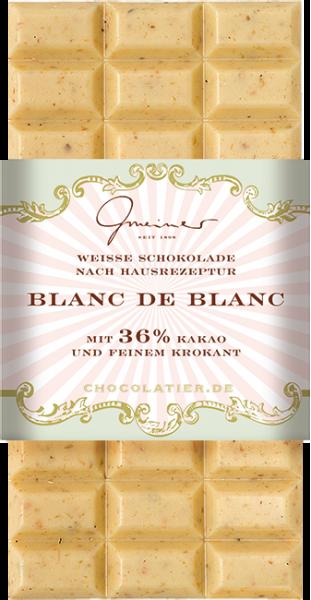 Weiße Schokolade, Blanc de Blanc, 100 g