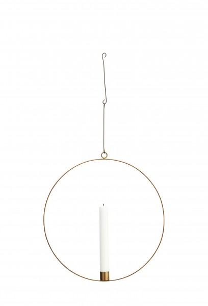 Madam Stoltz Metallring/-kreis und Kerzenhalter, 30 cm