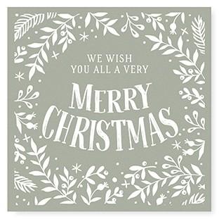 "Tafelgut, Karte ""Merry Christmas"", quadratisch"