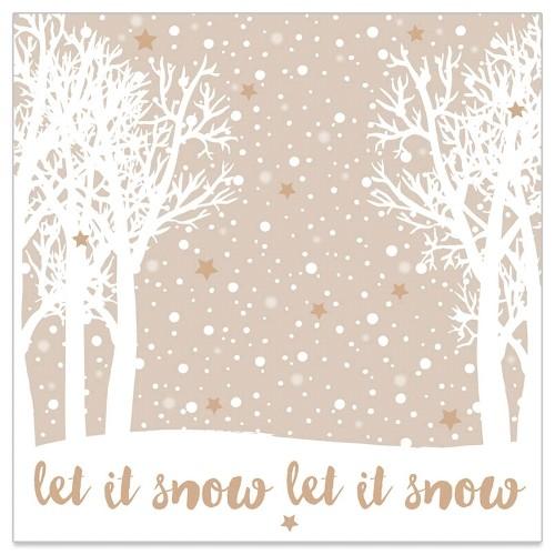 Artebene Papierservietten Let it Snow
