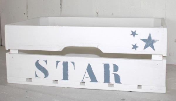 """Große Holzkiste """"Star"""", weiß"""