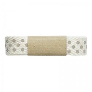 Greengate Geschenkband, Heeingbone Dot Grey
