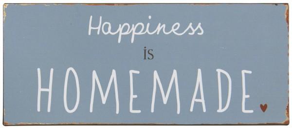 Ib Laursen Metallschild, Happiness is homemade