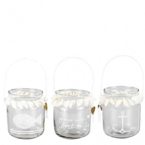 Bastion Collections Teelichthalter mit Muscheln