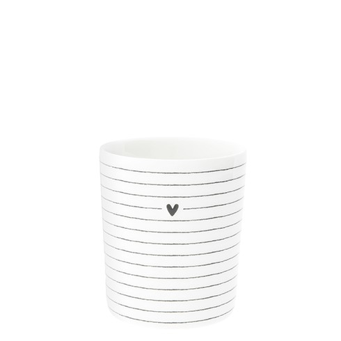 Bastion Collections Becher / Stripes and Heart in Black