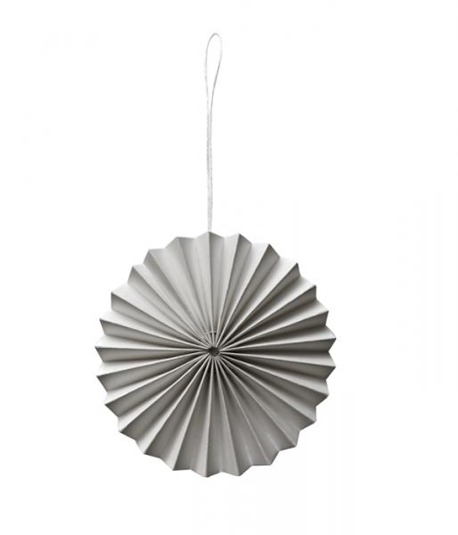 Papier-Ornament, Grau
