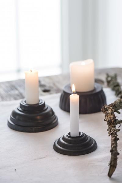 Ib Laursen Kerzenhalter für Stabkerze, schwarz-antik