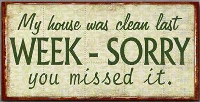 """Magnet, """"My house was clean last week"""""""