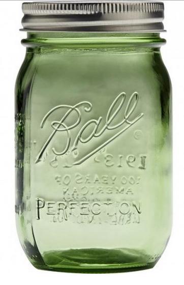 Ball Mason Glas, Heritage, Grün, 475 ml