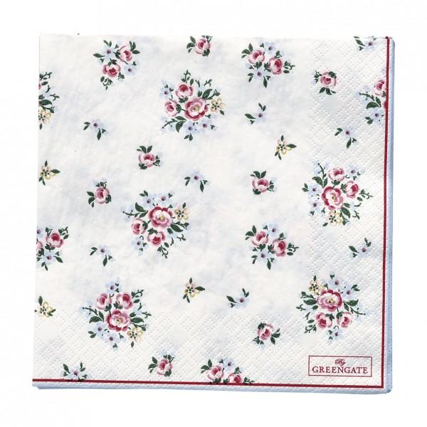 GreenGate Papierserviette Nicoline White