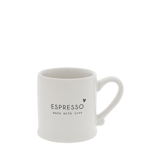 Bastion Collections Espressotasse White/Made with Love in Black