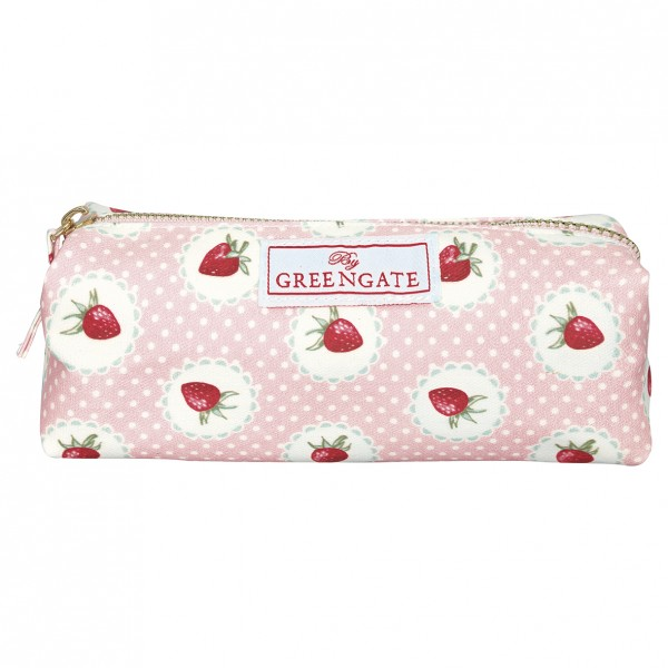 Greengate Kosmetiktasche / Cosmetic Pouch Strawberry Pale Pink