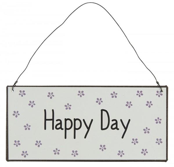 Ib Laursen Metallschild Happy Day