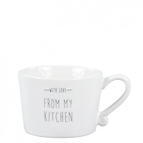 Bastion Collections Mug Small White/With love from my kitchen in Black