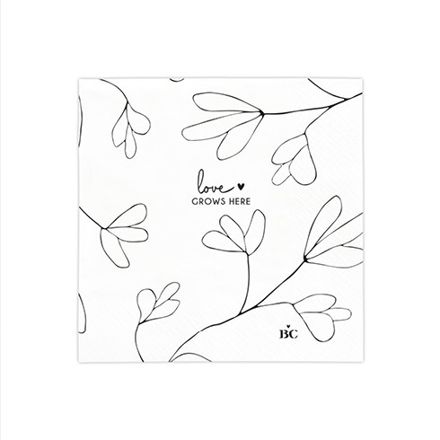 Bastion Collections Kleine Papierservietten Love Grows here