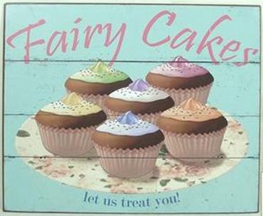 """Metallschild """"Fairy Cakes"""""""