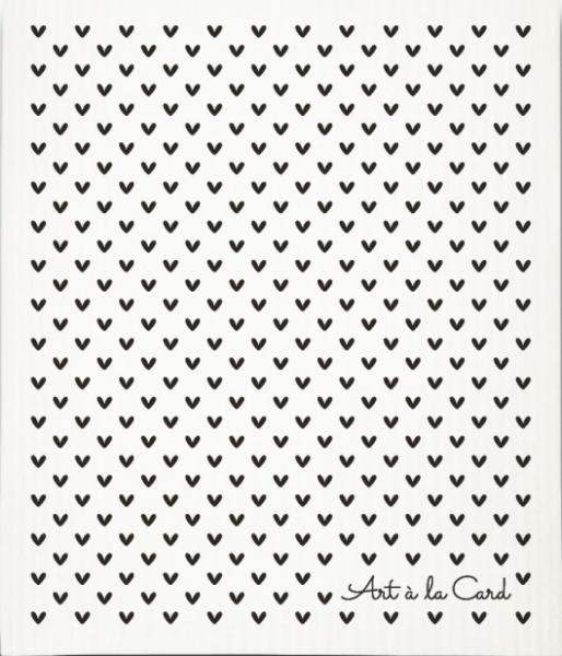 Art á la Card Schwammtuch Herzen
