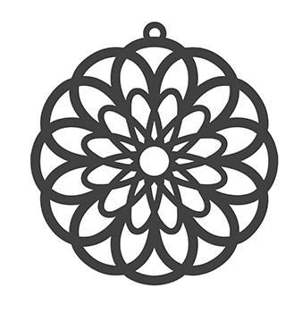 """Tafelgut, Papieranhänger """"Paper Cut Flower"""", schwarz"""