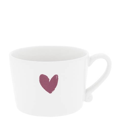 Bastion Collections Cup White / Heart in Red