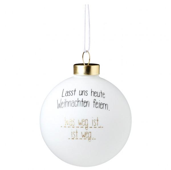 Räder Baumschmuck Lustige Kugel Laßt uns heute Weihnachten feiern