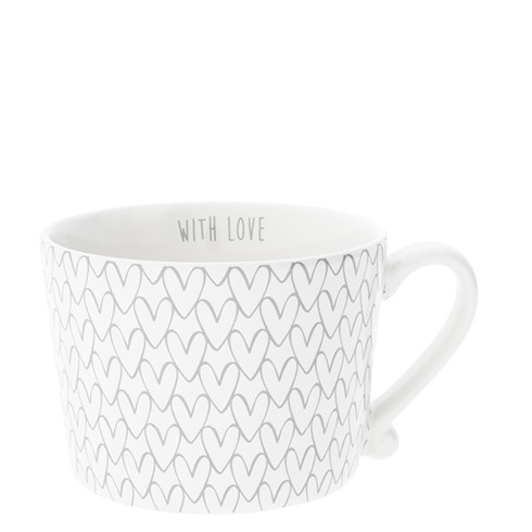 Bastion Collections Cup White / Herzmuster, Grey