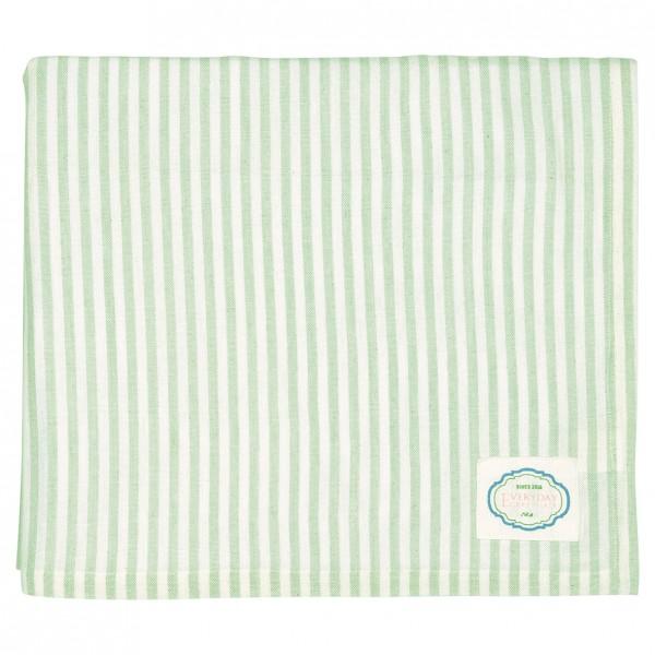 Greengate Tischdecke Alice Stripe Pale Green