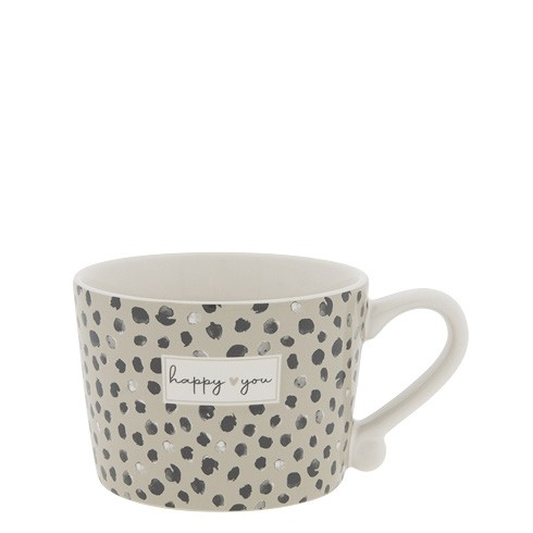 Bastion Collections Small Cup White / Happy You (Dots)