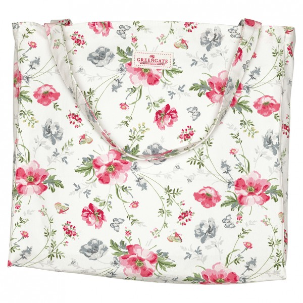 Greengate Shopper Meadow White, Baumwolle