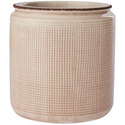 Blumentopf Keramik Zart-Rosé, mittel