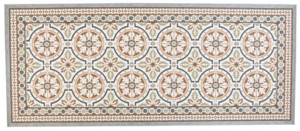 Teppich / Fussmatte in Zementfliesenoptik Braun, 50 x 120 cm
