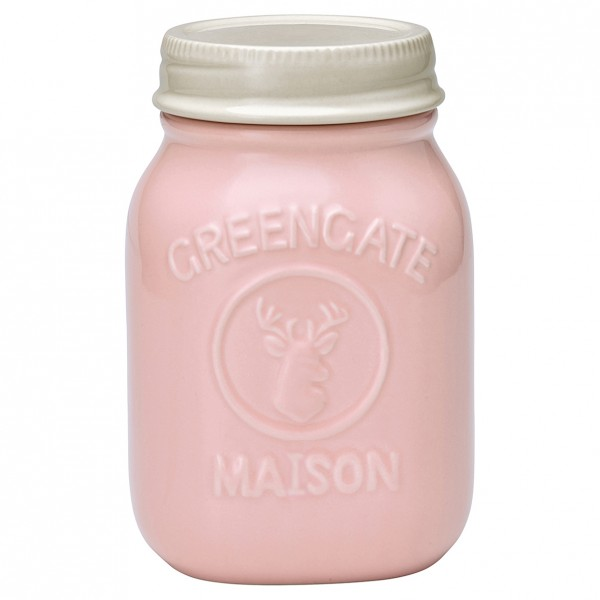 Greengate Vorratsglas Jar Maison, pale pink, groß
